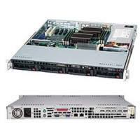Корпус SuperMicro CSE-813MTQ-600CB, 1U, ATX, 4x3.5'' hot swap SAS/SATA with SES2, 1xFH/HL, 437x43x503mm, front 2xUSB, 1xCOM (optional), 600W