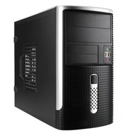 Корпус Mini Tower InWin EMR-001 Black/Silver 450W 2*USB+AirDuct+Audio mATX