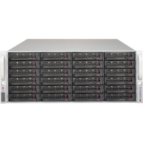 "Дисковый массив Supermicro Storage JBOD Chassis 4U 846BE1C-R1K03JBOD Up to 24 x 3.5"""" /Expander Backplanes(8xminiSASHD SFF-8643)"