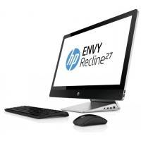"Моноблок HP Envy Recline 27-k400ur (G7S24EA) TS 27"", IPS FHD WLED touch, Core i5-4460T, 12Gb (1x8Gb + 1x4Gb), 1Tb+8Gb SSD, NVIDIA GeForce 830A 2Gb, no DVD, silver- black, USB Kbd/Mouse, Win8.1"