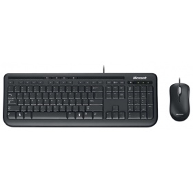 Комплект Microsoft Wired Desktop 600 Black (USB, keyboard: 5 multimedia btn, mouse: optical, 800dpi, 3btn+Scroll) ForBsnss