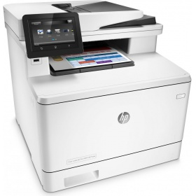 МФУ HP Color LaserJet Pro MFP M377dw (p/s/c,A4,600dpi,24(24)ppm,2 trays 50+250,Duplex,ADF 50 sheets,TouchScreen,USB/GigEth/Wi-Fi, 1y warr, 4 cart. in box black 2300 & cmy 1200 pages)