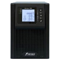 ИБП POWERMAN Online 1000, LCD, dual conversion, 1000VA, 800W, 2 eurosockets with backup power, USB, RS232, SNMP slot, protection RJ11 / RJ45, battery 12V 9Ah 2 pcs., 144mm x 368mm h215mm, 11 kg.