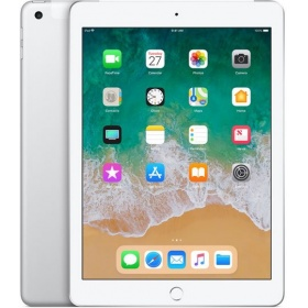 "Планшетный ПК Apple iPad (2018) 32Gb Wi-Fi + Cellular Silver (MR6P2RU/A), 9.7"" (2048x1536), емкостный, мультитач, Apple A10 Fusion, 2340 МГц, 2048 Мб, 32 Гб, Wi-Fi, Bluetooth, 3G, LTE, GPS, камера, 8.0 млн пикс., iOS"