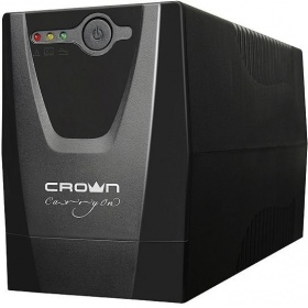 ИБП CROWN CMU-650XIEC 650VA / 300W, plastic, 1x12V / 7AH, sockets 3 * IEC, transformer AVR 220/230 / 240V + -25%, cable 1.2m, protection: batteries, against overload, short-circuit, input voltage filtering