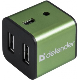 Разветвитель USB Defender QUADRO IRON (83506) USB2.0, 4 порта, метал. корпус