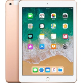 "Планшетный ПК Apple iPad (MRM22RU/A) (2018) Wi-Fi + Cellular 128GB - Gold, 9.7"" (2048x1536), емкостный, мультитач, Apple A10 Fusion, 2340 МГц, 2048 Мб, 128 Гб, Wi-Fi, Bluetooth, 3G, LTE, GPS, камера, 8.0 млн пикс., iOS"