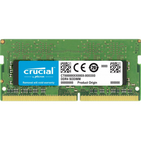 Модуль памяти Crucial CT16G4SFD8266 SODIMM 16GB DDR4 2666 MT/s (PC4-21300) CL19 DR x8 Unbuffered 260pin