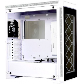 Корпус Aluminum PC case Lian Li Alpha 330W (PC-A330W), 2x USB 3.0, 1x USB 3.0 Type-C, 3x120 RGB Fan, 1x120Fan, Tempered glass, White/Black