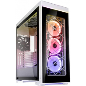 Корпус Aluminum PC case Lian Li Alpha 550W (PC-A550W), 2x USB 3.0, 1x USB 3.0 Type-C, 3x120 RGB Fan, 1x120Fan, Tempered glass, White/Black