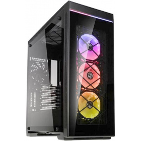 Корпус Aluminum PC case Lian Li Alpha 550X (PC-A550X), 2x USB 3.0, 1x USB 3.0 Type-C, 3x120 RGB Fan, 1x120Fan, Tempered glass, Black/Black
