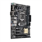 Материнская плата ASUS H110M-C/CSM, LGA1151, H110, 2*DDR4, D-Sub+DVI, SATA3, Audio, Gb LAN, USB 3.0*4, USB 2.0*6, LPT*1 header (w/o cable), COM*1 back panel + 1 header(w/o cable), mATX ; 90MB0NY0-M0EAYC