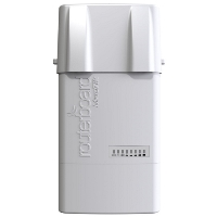 Точка доступа MikroTik RB912UAG-5HPND-OUT BaseBox 5 with 600Mhz Atheros CPU, 64MB RAM, 1xGigabit LAN, USB, miniPCIe, built-in 5Ghz 802.11a/n 2x2 two chain wireless with two RP-SMA connectors, RouterOS L4, outdoor enclosure, POE, PSU,