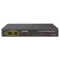 Коммутатор Planet GSD-1002M IPv4/IPv6 Managed 8-Port 10/100/1000Mbps + 2-Port 100/1000X SFP Gigabit Desktop Ethernet Switch (POE PD, External PWR)