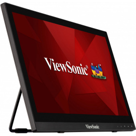 "Монитор Viewsonic TD1630-3 Touch LED, 15.6"" 1366x768, 12ms, 220-190cd/m2, 10Mln:1, 90°/60°, VGA, HDMI, USB, колонки, Tilt, VESA(75x75), Black"