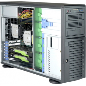 Корпус SuperMicro CSE-743AC-1200B-SQ Black 4U Tower SC743AC SQ with SAS3, USB3, 1200W PWS