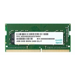 Модуль памяти Apacer AS04GGB24CETBGH DDR4 4GB 2400MHz SO-DIMM (PC4-19200) CL17 1.2V (Retail) (AS04GGB24CETBGH/ES.04G2T.KFH)