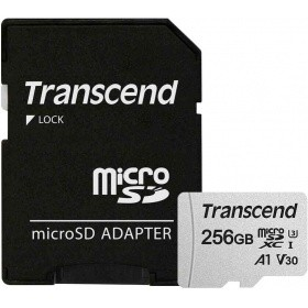 Карта памяти Transcend TS256GUSD300S-A 256GB UHS-I U3A1 microSD with Adapter