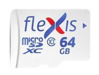 Карта памяти Flexis FMSD064GU1A microSDXC 64GB class10 U1 R/W 92/40 MB/s with adapter, made in Russia
